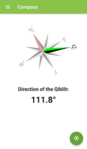 Qiblih Compass in the Badí' Calendar App